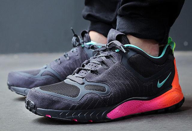 SZ 10 Nike Zoom Talaria 2014 Black orange Pink Flash Glow 3M Running 684757-001