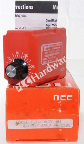 New NCC T3K-00030-461 Time Delay Relay 0.3-30 sec DPDT 11-Pin Qty