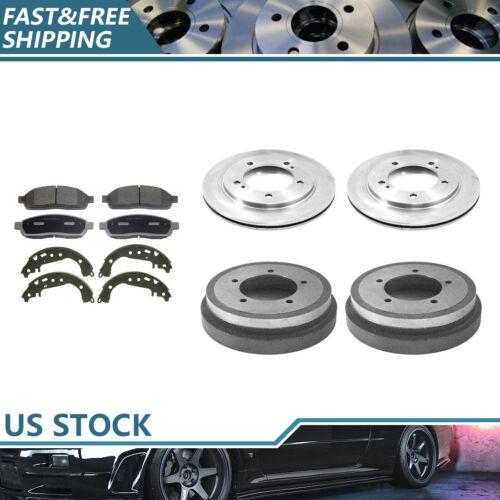 Tambores De Freio E Sapatos Para 2000-02 Chevrolet Tracker Brake Rotors /& Pads Metálico