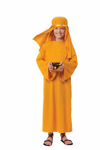 Biblical times gold wiseman costume robe child christmas manger image is loading biblical times gold wiseman costume robe child christmas solutioingenieria Gallery
