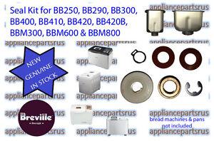 Breville-BB250-BB290-BB300-BB400-BB420-BBM600-BBM800-Bread-Maker-Pan-Seal-Kit
