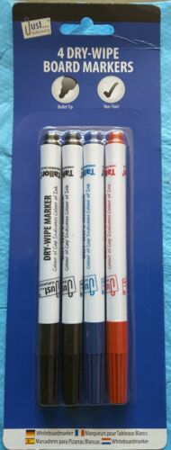 White Board Markers Marker Pens 4 Dry Wipe Markers