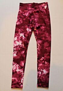 cc7147d0bcc38 Justice Red Marble Leggings Girl Size 8 Full-Length Legging Pants ...