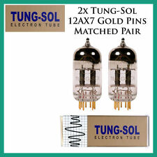New 2x Tung-Sol Gold 12AX7 / ECC803S | Matched Pair / Duet / Two Tubes Gold Pins