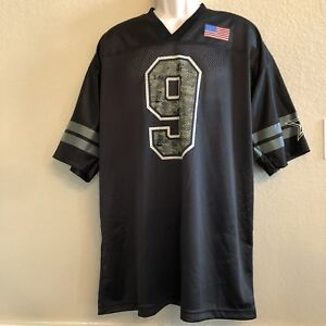 1cea0d01ad6 NEW Dallas Cowboys 9 Tony Romo Football Jersey Mens XL Black Mesh ...
