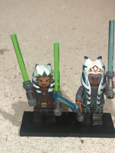 Ahsoka Tano Mini Figure Star Wars  Mandalorian Set Of 2 In Hand Quick Shipping