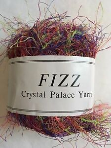 Crystal Palace Fizz Eyelash Yarn #9526 Tulips Pinks Greens 50g 120y