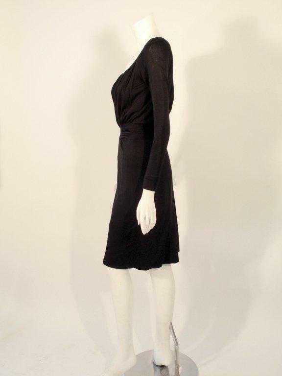 CEIL CHAPMAN Vintage Black Long Sleeve Jersey Coc… - image 2