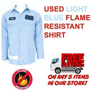 Details about Used Flame Resistant FR Work Shirts Cintas, Workrite,  Carhartt, Flame Retardant