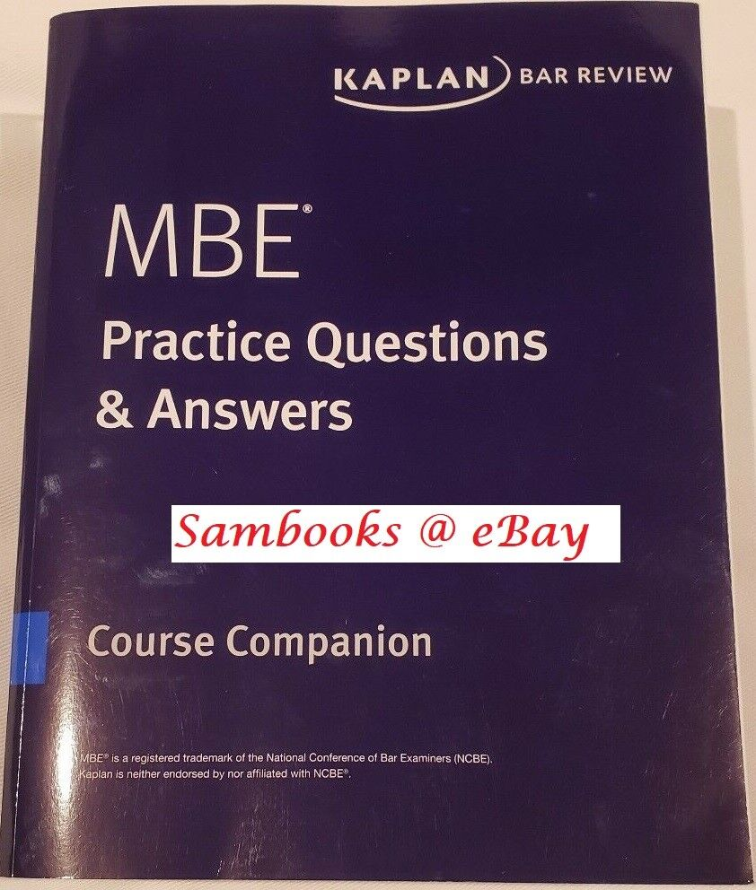 Mbe Practice Questions And Answers 2018 By Kaplan For Sale Online Ebay