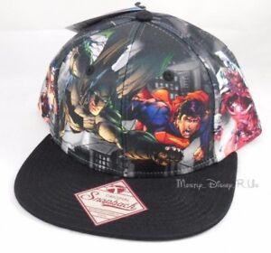 DC-Comics-Justice-League-Snapback-Hat-Comic-Ball-Cap-Superman-Batman-Flash