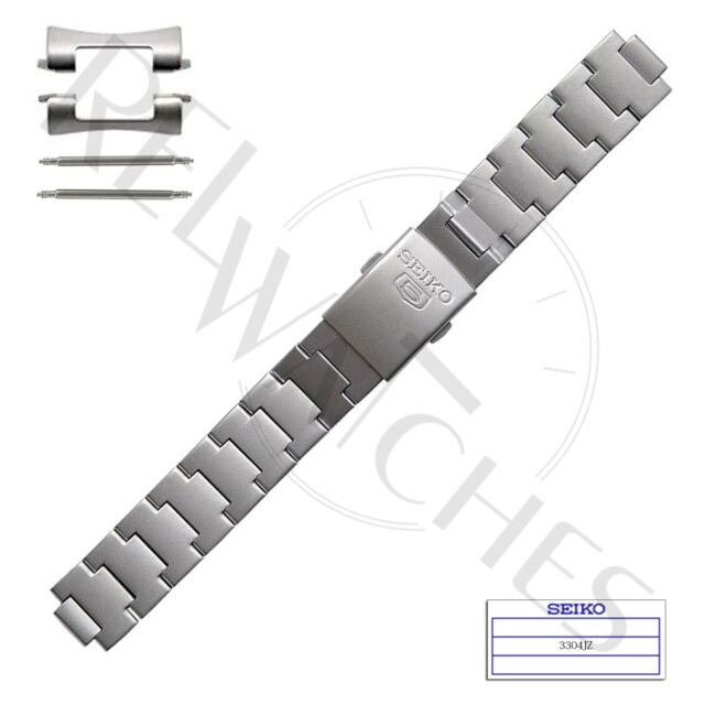8749830f0 Genuine SEIKO 3304JZ 18mm Stainless Steel Band + Pins SNK Military Watch  Strap