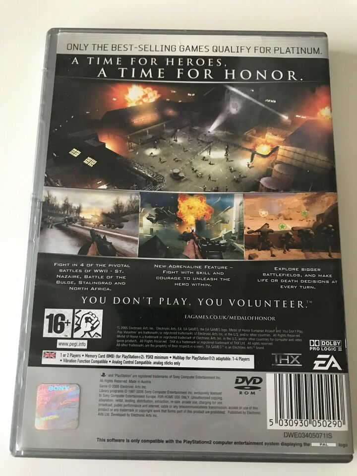 Medal Of Hour European Assault, PS2, action
