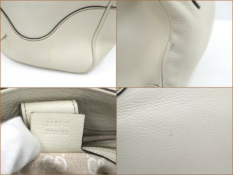 Used Gucci Diana Bamboo Tote Bag Leather White W3… - image 6