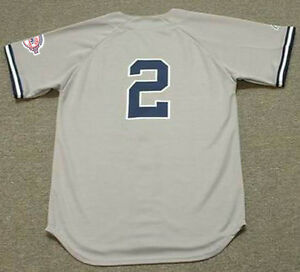 DEREK JETER New York Yankees 2003 Majestic Throwback Away Baseball ... 0b6ecb6dcc0