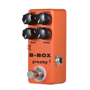 Mosky BB box Preamp Boost Overdrive/Distortion Guitar Effects pedal true bypass