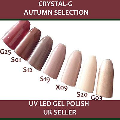 Crystal- G Autumn Colours UV LED Soak Off Gel Nail Polish Manicure Pedicure *UK*