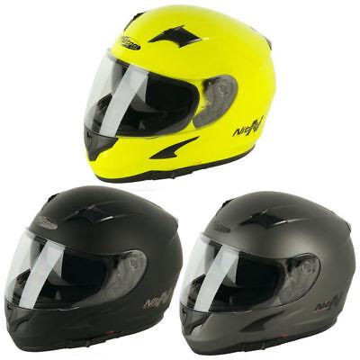 Nitro N2300 UNO Satin Black Full Face Motorcycle Helmet