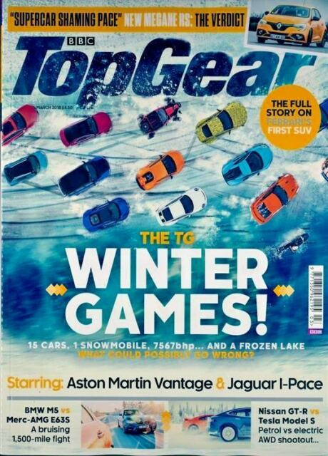 TOP GEAR MAGAZINE MARCH 2018 ~ THE TOP GEAR WINTER GAMES ~ NEW ~