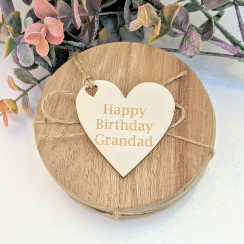 Personalised Wooden Gift Tag Heart Custom Gift Tag