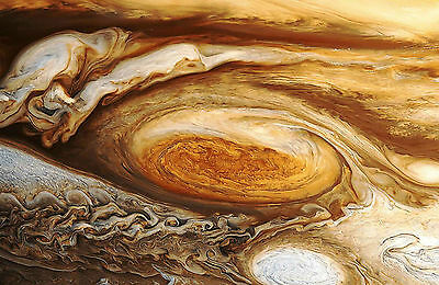 Framed Print - Planet Jupiter's Great Red Storm Spot (Picture Poster Art Earth)