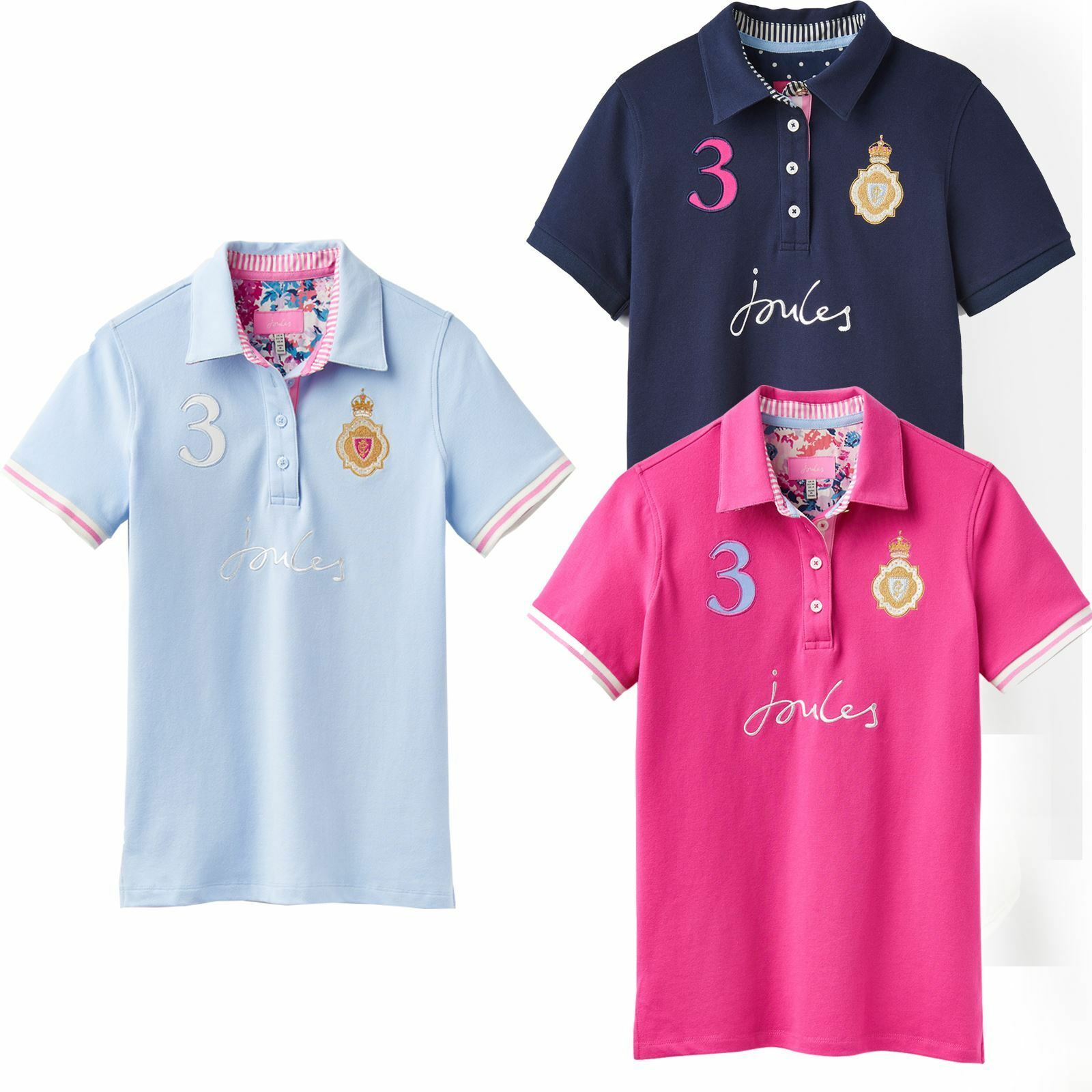Joules Beaucroft Ladies Horse Riding Country Classic Short Sleeve Polo Shirt