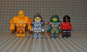 Lego-Figuren-Konvolut-Nexo-Knights-nex001-Lance-nex025-Aaron-nex027-nex053-Axl