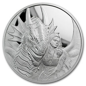 5 Oz Silver Proof Round Anne Stokes Dragons Friend Or Foe
