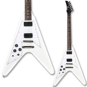 Lindo-Left-Handed-White-Victory-Flying-V-Electric-Guitar-and-FREE-Gigbag