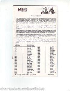 TIME-MACHINE-By-Data-East-1988-Original-PINBALL-MACHINE-Operators-MINI-Handbook