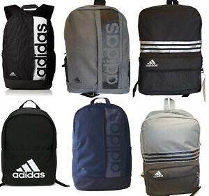 billetera Ceniza suspender  Adidas Linear Performance Backpack Sports School Bag Rucksack Training  Travel | eBay