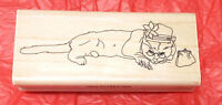 Granny Glasses Cat Rubber Stamp Grandmother Hat Purse Unmounted Die Only Pets