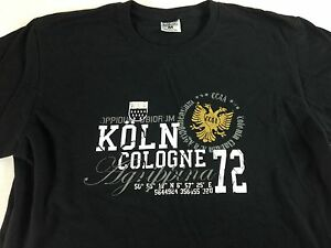 Koln-Cologne-T-Shirt-Germany-CCAA-Adult-Medium-Mens-Womens-Soft-Cotton-Tee-Black