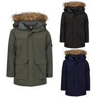 Mens Parka Jacket Tokyo Lee Toronto Fur Hooded Quilted Military Parker Coat