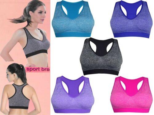 Femme Rembourré Soutien-gorge sport femme crop top Gym Yoga Entraînement Course Fitness Exercices