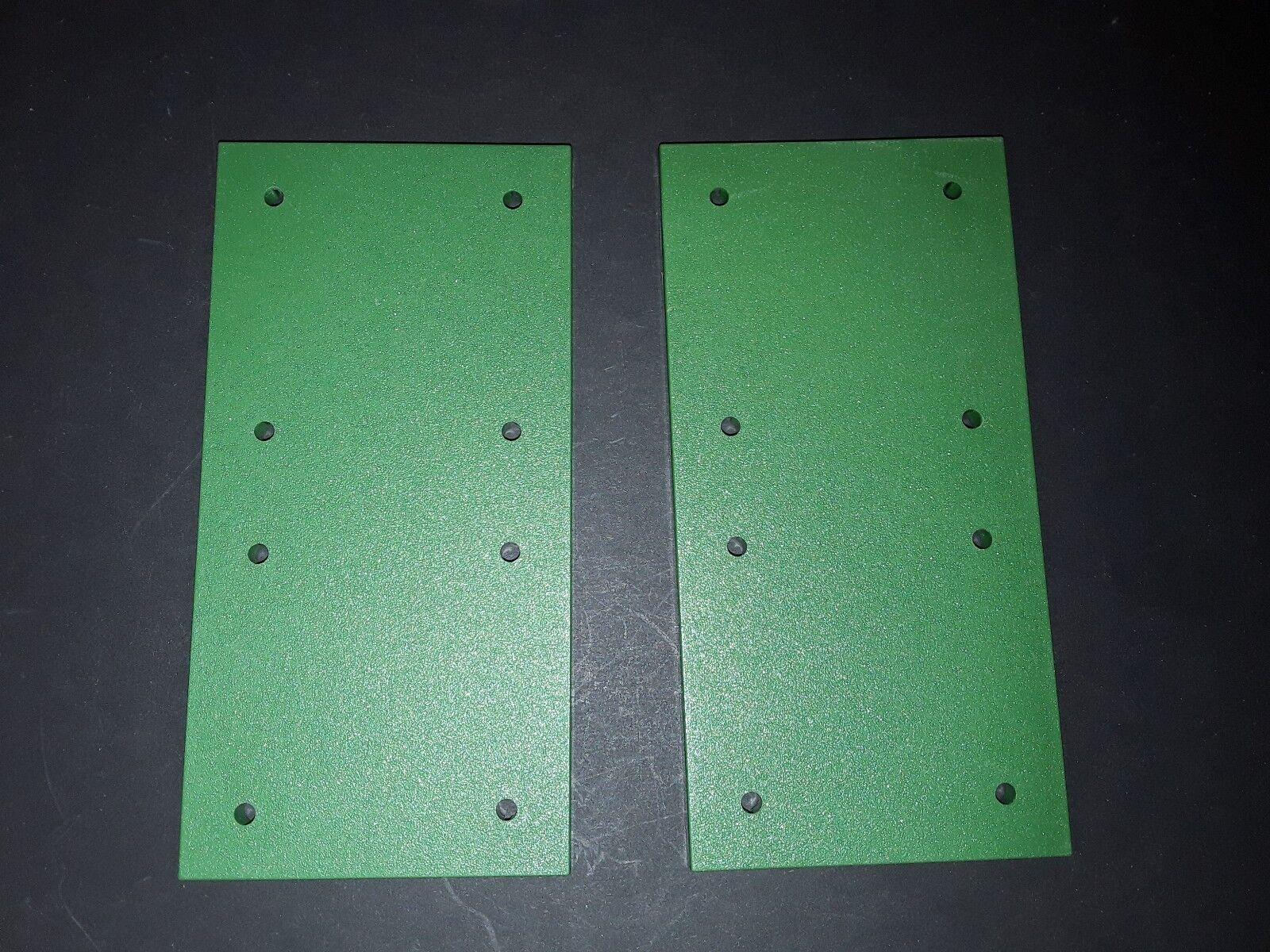 Majokit - Ref 190 plaque   herbe   green  environ 7,5 cm X 15 cm lot de 2