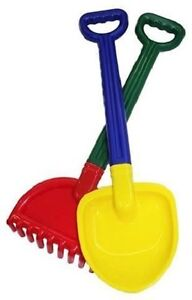 Spade rake combo beach sandcastle building toys gardening for Gardening tools 94 game