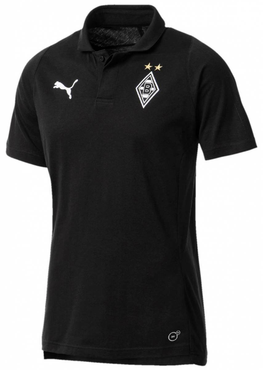 Puma Borussia Mönchengladbach Casuals Poloshirt schwarz NEU 99318