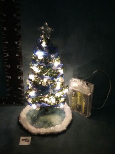 "working lights #14,#15,#16 Dollhouse Miniature 7/"" Christmas Tree Set"