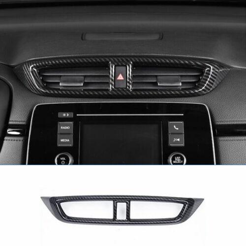 5X FOR HONDA CR-V CRV 2017-2019 Carbon Fiber Style Dashboard Air Vent Cover Trim