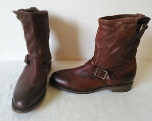 b015367dcdc0d Details about New High quality Vintage Shoe Company women's brown leather  ankle boots Size 9 M