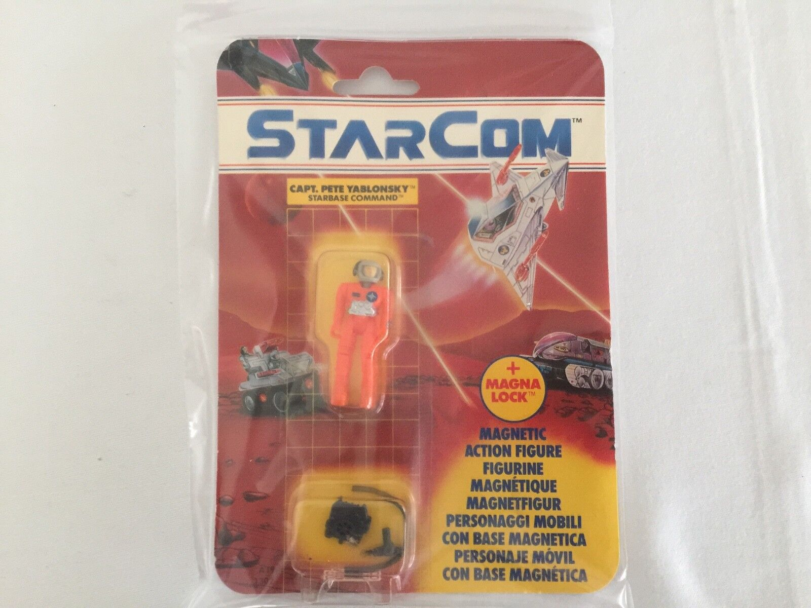 STARCOM cant. PETE YABLONSKY figure on card MOSC coleco