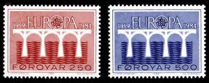 AgréAble Îles Féroé 1984 Europa, Ponts, Slania Gravé Design, Neuf Sans Charnière/hank à Tout Prix