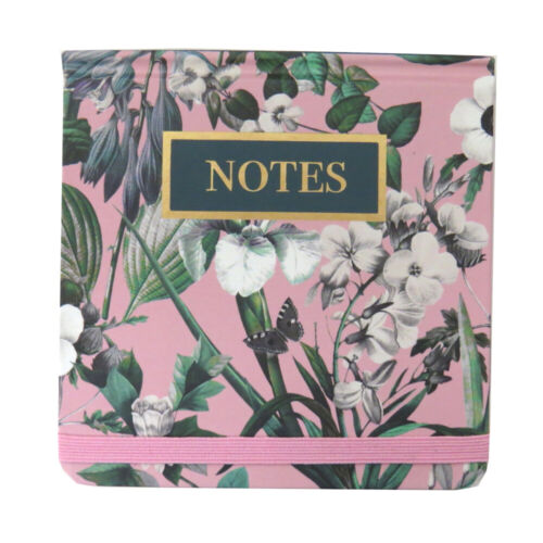 Size 110mm Sq 6 Designs Design by Violet Jotter Notebook with Elastic Closure