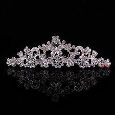 4cm Schmetterling Blume Hochzeit Braut Haarschmuck Haarreif Krone Diademe Tiara