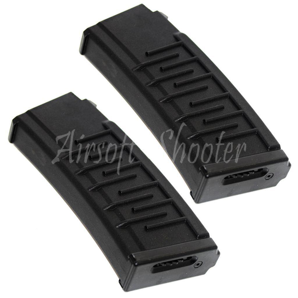 Airsoft Gear 2pcs 250rd Mag Non-Slip Texture Hi-Cap Magazine For AY S&T VSS AEG