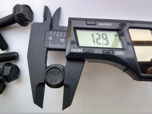 5 M8-1.25x25 Metric Hex Flange Bolts 13mm Grade 10.9 Europa Asia automotive