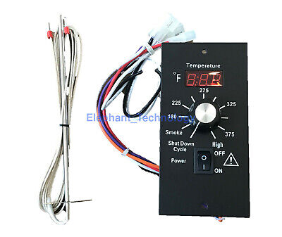 Digital Thermostat Pellet Grill Control Board +RTD Probe For