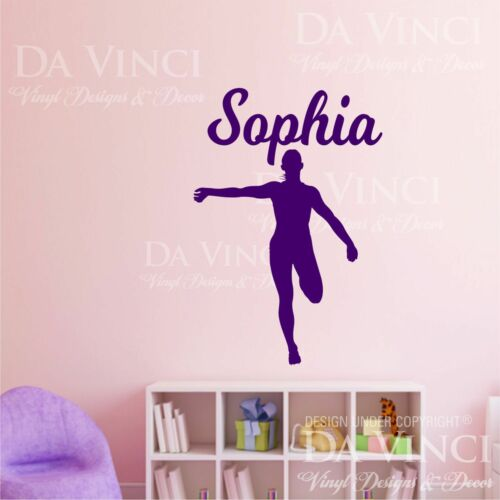 Track Field Runner Athletic Decal Custom Girl Name Personalized Vinyl Sticker A