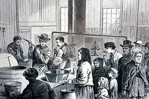 Details About Chicago Soup Kitchen 1871 Cincinnati Soup House Peoria Street Print Engraving